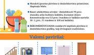 Dėl aplinkos valymo ir dezinfekcijos, esant nepalankiai COVID-19 situacijai