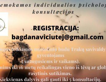 Nemokamos individualios psichologo konsultacijos
