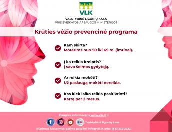 Krūties vėžio ankstyvosios diagnostikos programa